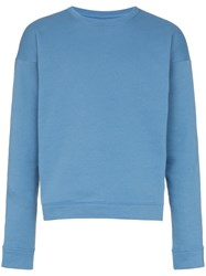 The Elder Statesman Cotton Crew Neck Sweatshirt Blue