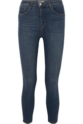 L'agence Margot Cropped High Rise Skinny Jeans Indigo