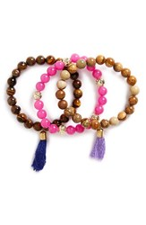 Panacea Women's Set Of 3 Bead Bracelets