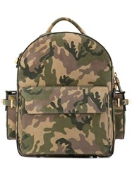 Buscemi Camouflage Print Backpack Green