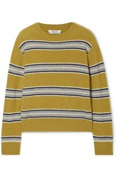 Sea Salene Striped Cashmere Sweater Mustard