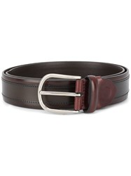 Canali Leather Belt Brown