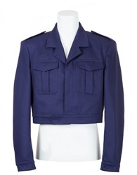 Balenciaga Cropped Jacket Blue