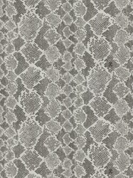 Roberto Cavalli Embossed Snakeskin Print Wallpaper Grey White