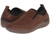 Hush Puppies Crofton Method Brown Leather Men's Slip On Shoes