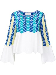 Peter Pilotto Knitted Top Women Cotton Polyamide Viscose Wool L