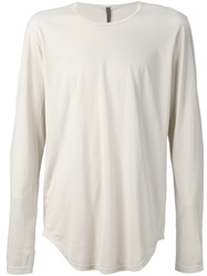Attachment Long Sleeve T Shirt Nude And Neutrals