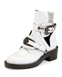 Balenciaga Buckle Leather 35Mm Bootie Blanc