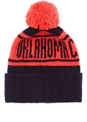 The Elder Statesman X Nba Men's Oklahoma City Thunder Cashmere Pom Pom Beanie Navy