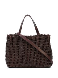 Henry Beguelin Woven Tote Bag Brown