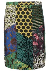 Desigual Alma Mini Skirt Antique Green Multicoloured