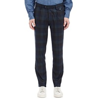 Michael Bastian Plaid Blackwatch Trousers Navy