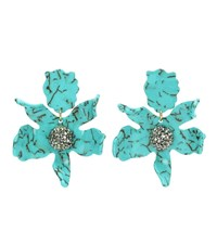 Lele Sadoughi Crystal Clip On Earrings Blue