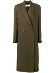 Ports 1961 Double Breasted Coat Green