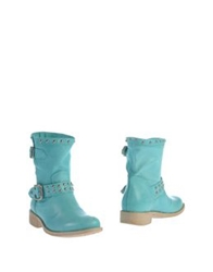 Annarita N. Ankle Boots Turquoise