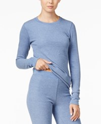 Cuddl Duds Long Sleeve Thermal Top Heather Blue