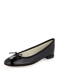 Repetto Patent Leather Ballerina Flat With Bow Black