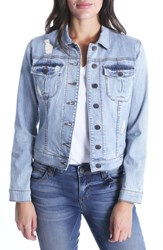 Kut From The Kloth Amelia Distressed Denim Jacket Accessed