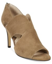 Adrienne Vittadini Gerlinda Peep Toe Sandals Women's Shoes Canapa Kidsuede