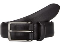 Barneys New York Saffiano Leather Belt Black