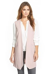Women's Halogen Long Collarless Vest