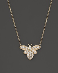 Kc Designs Diamond Bumble Bee Pendant Necklace In 14K Yellow Gold 16 White Gold