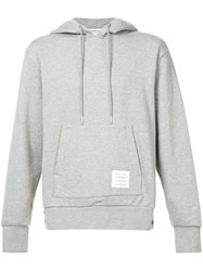 Thom Browne Hoodie Pullover With Center Back Red Grey