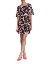 Plenty By Tracy Reese Giana Floral Printed Shift Dress Black Multicolor