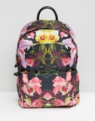 Ted Baker Floral Print Backpack Black