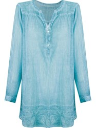 Sub Embroidered Kaftan Blue