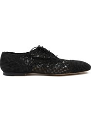 Premiata Perforated Oxford Shoes Black
