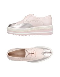 Pertini Lace Up Shoes Pink