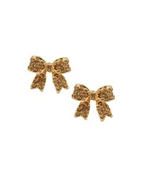 Emily And Ashley Pave Crystal Bow Stud Earrings Gold