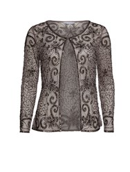 Gina Bacconi Bead And Sequin Unlined Jacket Grey
