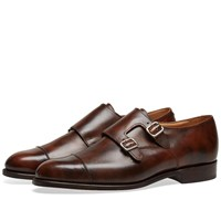 Tricker's Leavenworth Double Monk Shoe Brown