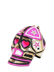 Manish Arora Leather Skull Clutch