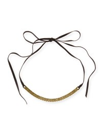 Fallon Armure Watch Strap Leather Choker Necklace Gold