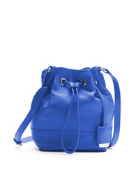 Kenneth Cole Nevins Leather Small Bucket Bag Cobalt