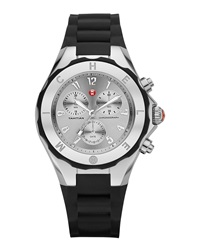 Michele Tahitian Jelly Bean Stainless Steel Watch Black