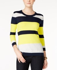 Tommy Hilfiger Hunter Striped Sweater Only At Macy's Buttercup