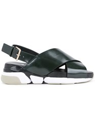 Clane Chunky Sole Sling Back Sandals Women Polyurethane 6 Green