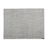 Chilewich Basketweave Rectangle Placemat White Silver