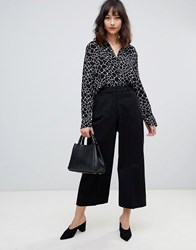Selected Adele Cropped Trousers Black