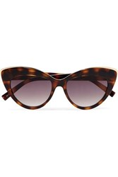 Le Specs Beautiful Stranger Cat Eye Tortoiseshell Acetate And Gold Tone Sunglasses One Size