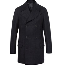 Kingsman Herringbone Wool And Cashmere Blend Peacoat Navy