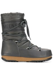 Moon Boot Lace Up Snow Boots Grey