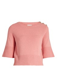 Barrie Cashmere Knit Top Pink
