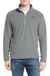 The North Face Men's 'Tka 100 Glacier' Quarter Zip Fleece Pullover Cardinal Red