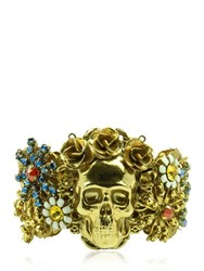 Halo And Co English Garden Skull Cuff Bracelet