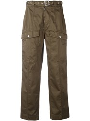 Dondup Belted Cargo Pants Green